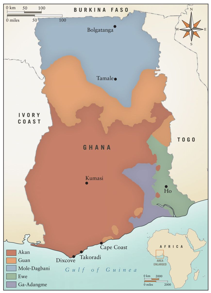 MAP 2 Major Language Groups of Ghana