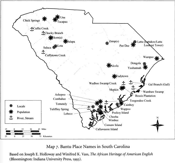 Bantu Place names in SC