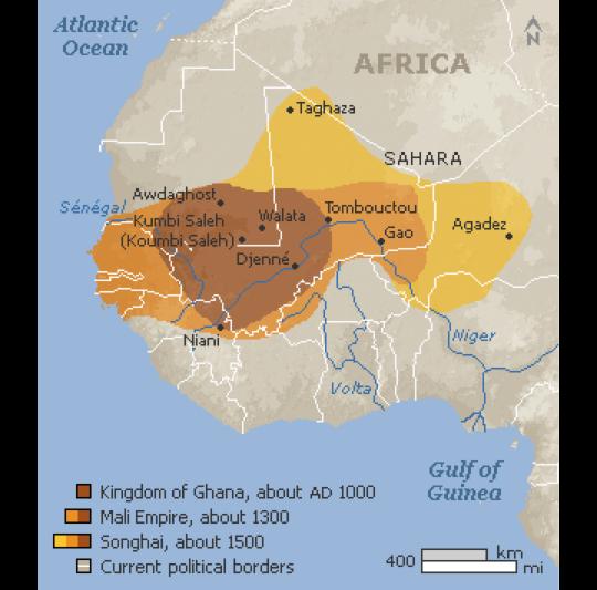 Mali, Ghana, Songhai