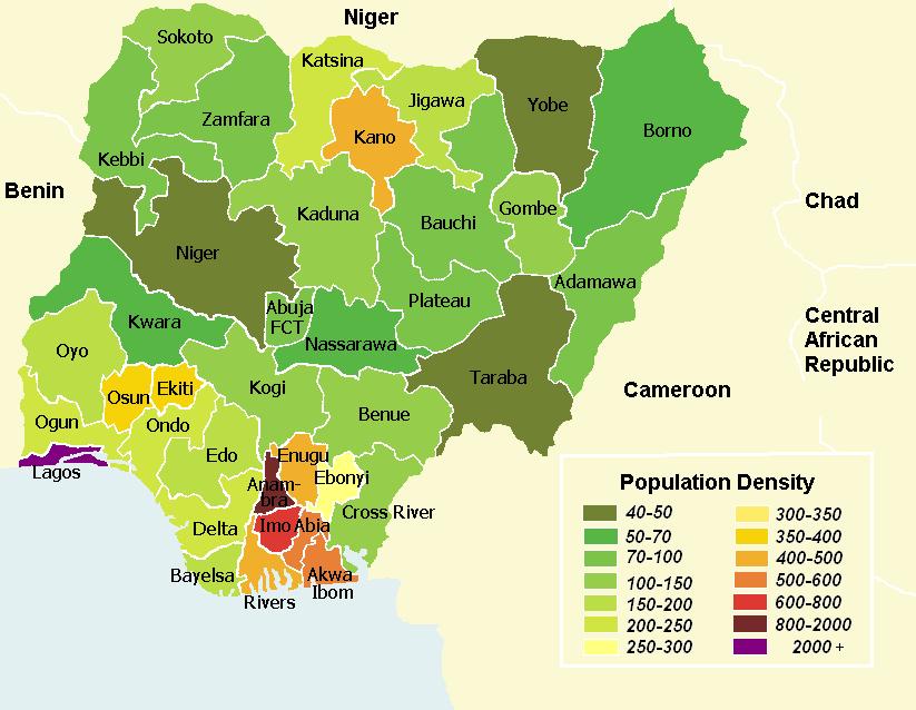 population desnity