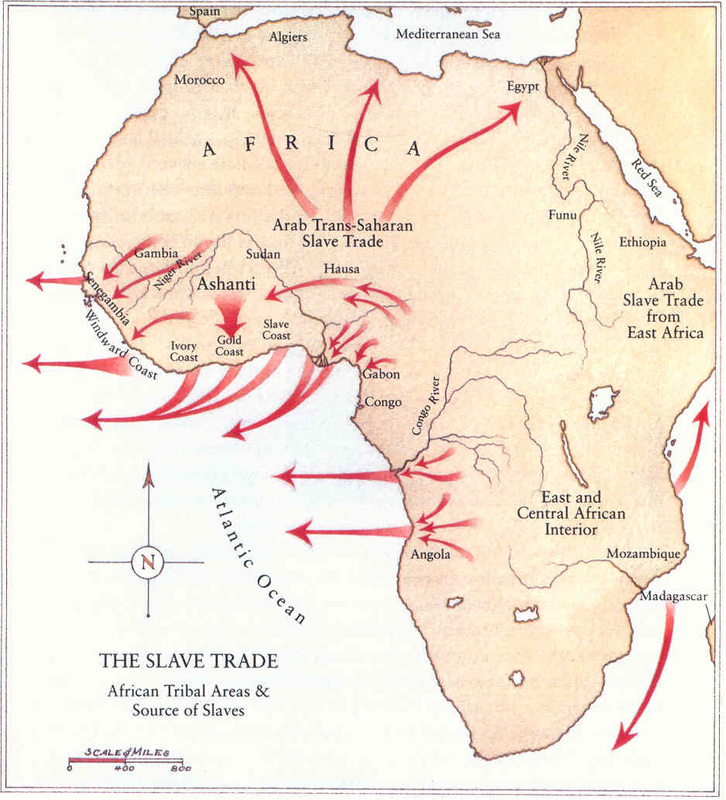 the east african slave trade routes essay Free essay: the slave trade route between africa and north america was known as the middle passage from the early 1500s to the mid-1900s africans were.
