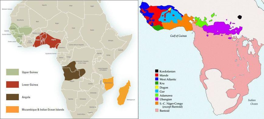Mapa - Linguistics versus History