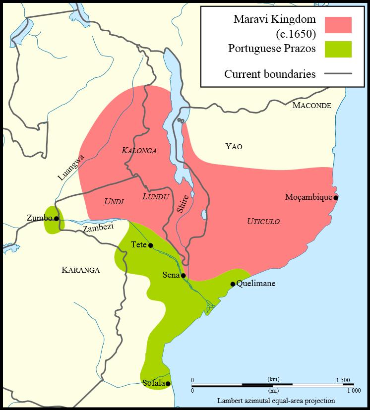 Maravi Kingdom circa 1650