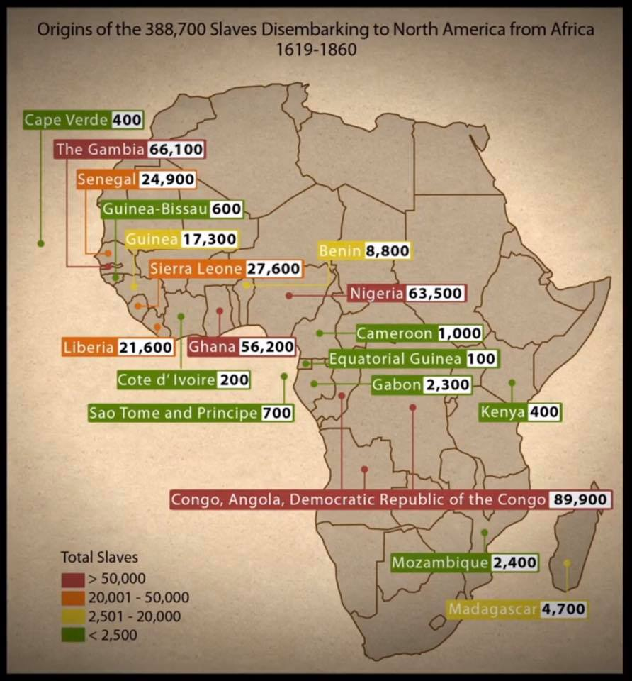 African Results Tracing African Roots - Ancestral origins us map