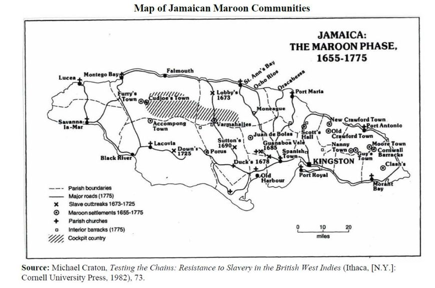 Map of Maroon towns